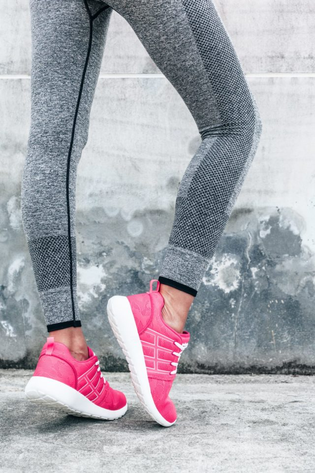 pink work out shoes